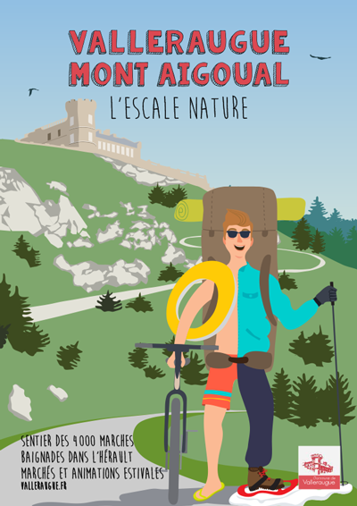 affiche valleraugue Mont Aigoual Escale Nature