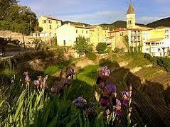 Vue de l'entrée du village de Notre dame de la Rouvière