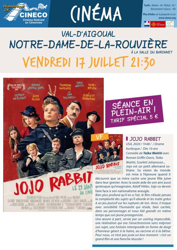Affiche séance NDR de Juillet Jojo rabbit